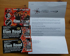 The X Factor Eton Road Live VIP set tickets & signed card April 2007 Halifax