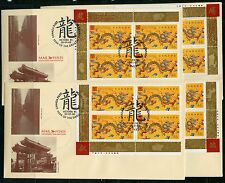 Weeda Canada 1836 Limited Ed. 2000 Year of the Dragon M/S covers Victoria cancel