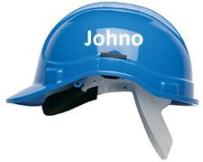 2 Hard hat & Safety Helmet Vinyl Name Stickers,Personalized with your name