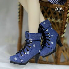 MID 1/3 BJD Shoes Supper Dollfie Luts AOD EID SD Boots Shoes Star High heels 374