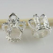 11137 20PCS Silver Tone Nice Crown Pendant Charms