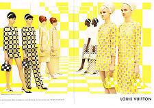 PUBLICITE  2013   LOUIS VUITTON  haute couture  nouvelle collection  ( 2 pages)