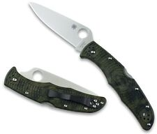 Spyderco Endura 4 FRN Zome Green Folder VG-10 Plain Edge camouflage C10ZFPGR NEW