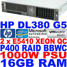 HP ProLiant DL380 G5 Twin Quad Core Xeon Server 2.33GHz 16GB RAM P400 SAS RAID