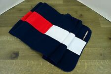 NWT NEW TOMMY HILFIGER POLYESTER FLEECE STRETCH LOGO SPELLOUT SCARF