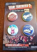 May 2015 Loot Crate New Team Fortress 2 Collector Set 4 Pin Set  Exclusive MINT