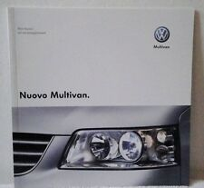 Volkswagen VW Multivan Technical & Equipment Brochure Italian Dated 2003