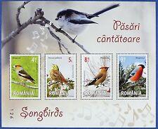 Rumänien Romania 2015 Vögel Singvögel Songbirds Birds Block 615  MNH Auflage 255