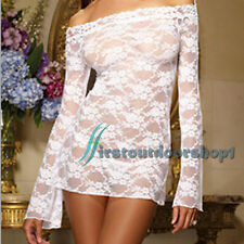 Sexy Womens Lace Underwear Lingerie Babydoll Flower Dress Nightwear Sleepwear