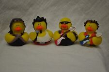 4- ROCKSTAR RUBBER DUCKS ROCKER MUSICIAN DUCKY ROCK AND ROLL RUBBER DUCKIES
