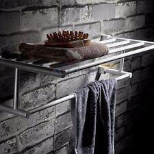 Durable Aluminum Towel Bar Set Rack Tower Holder Hanger Bathroom Hotel Shelf