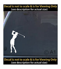 woman golfer swing clubs 6 inch decal 4 car truck home laptop fun more SPT_48