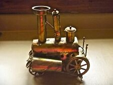 Metal STEAM ENGINE sculpted MUSIC BOX I Left My Heart in San Francisco vintage
