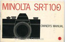 Minolta sr-t100 Libro de instrucciones, más Sr T 100 cámara de 35mm Manuales Incluidos