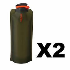 Vapur Eclipse 1 Liter Matte Olive Green Flexible Water Bottle Flask 34oz 2-Pack