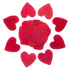 Burgundy Heart Shaped Silk Petals
