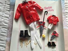 BARBIE & KELLY DOLL CLOTHES FASHIONS NEW DE BOXED FASHION AVENUE RED RAINCOATS