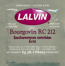 Lalvin RC 212 Wine Yeast, 5g - 10-Pack