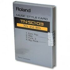 "Roland STYLE CARD TN-SC1-03 ""70's and 80's"" ROM For Roland RA 50, PRO-E, E30, E5"