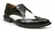 Giorgio Brutini Mens 21085 Caster Wing Tip Oxford Dress Shoes Blk/White Size 14