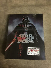 STAR WARS THE COMPLETE SAGA (Episodes I-VI 1,2,3,4,5,6 9 BLU-RAY Discs Box Set)