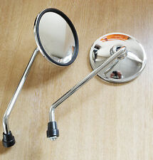 Nickle CHROME UNIVERSAL MOTORCYCLE / BIKE MIRRORS 10.5cm SIDE PAIR Rear-144MKB