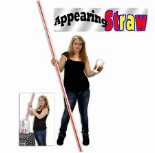MAGIC TRICK APPEARING 8 FOOT STRAW 2.4 METER PRODUCTION APPEAR FROM BAG HAT COAT