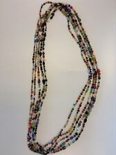 Moroccan Multicolor Glass & Stones Beads Necklace XL