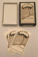 Vintage Crane's Ex Libris Book Plates Old Stock Tree On Hill Paper Ephemera