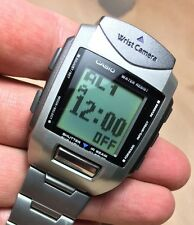 Casio 220 WQV-1 Rare Worlds First Digital Camera Watch Working Large XL