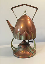WMF, antique kettle spirit copper art & craft, nouveau signed, teapot samovar