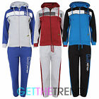 DLX Project Fleece Lined Tracksuit Set Kids Boys Hooded Hoodie Top Bottoms Pants