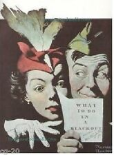 """Norman Rockwell print """"THINGS TO DO IN A BLACKOUT"""" 11"""" x 15"""" WW2 Bomb shelter"""