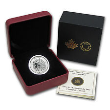 2014 Canadian 1/4 oz Silver $3 Animal Architects Coin - Spider & Web - SKU#79309