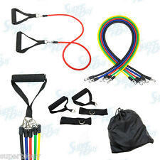 10pcs Resistance Bands Set - Yoga Pilates Abs Exercise Fitness Tube Workout Band