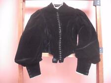 ANTIQUE VICTORIAN 1800s ORIGINAL VELVET BONED JACKET MUSEUM STUNNING