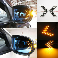 Amber 14 LED 1210 SMD Arrow Panels for Car Side Mirror Turn Signal Lights  TBUS