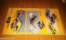 MINIATURES A MONTER KITS-SOLIDO-FERRARI-FORD-PORSCHE...CATALOGO AUTO 1 / 43-SR53