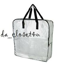 IKEA DIMPA Bag Clear Heavy duty STORAGE BAG w/ zipper Reusable Shopping Strong