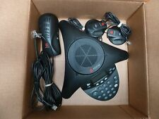 Polycom SoundStation2 SoundStation 2 Ex Phone w/ 2 Mics Power GOOD SHAPE!