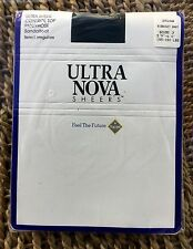 Vintage Ultra Nova Ultra Sheer Control Top Navy Pantyhose/Tights, Large, BNWT