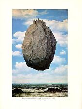 "1974 Vintage MAGRITTE ""CASTLE IN THE PYRENEES"" CHATEAU COLOR offset Lithograph"