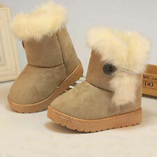 Winter Warm Newborn Baby Girls Plush Snow Boots Toddler Kids Child Booties Shoes