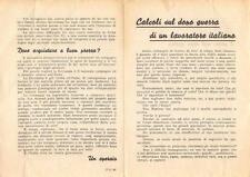 """8741) RSI, VOLANTINO """"CALCOLI SUL DOPO GUERRA DI UN LAVORATORE ITALIANO."""""""