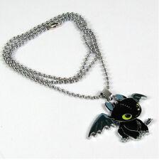 Cómo entrenar a tu dragón NightFury Toothless Collar De Cadena Unisex Colgantes