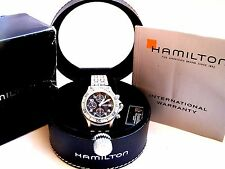 Hamilton Khaki Swiss Made Chronograph Automatic Ref.383417 Valjoux 7750 Full Set