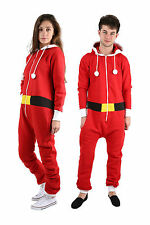UNISEX CHRISTMAS SANTA & ELF ALL IN ONE NOVELTY MENS WOMENS ONESIE 8 - 4XL