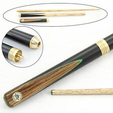 Peradon QUASAR 3 Piece Ash  Ebony & Zebrano Snooker Pool Cue 55 Inch - 8.5mm Tip