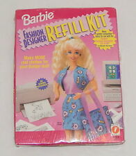 Mattel Barbie Fashion Designer Refill Kit 1996 Makes 8 Real Barbie Outfits New!