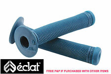ECLAT ASHLEY CHARLES SIGNATURE BMX HANDLEBAR GRIPS, ELASTOMER RUBBER TEAL